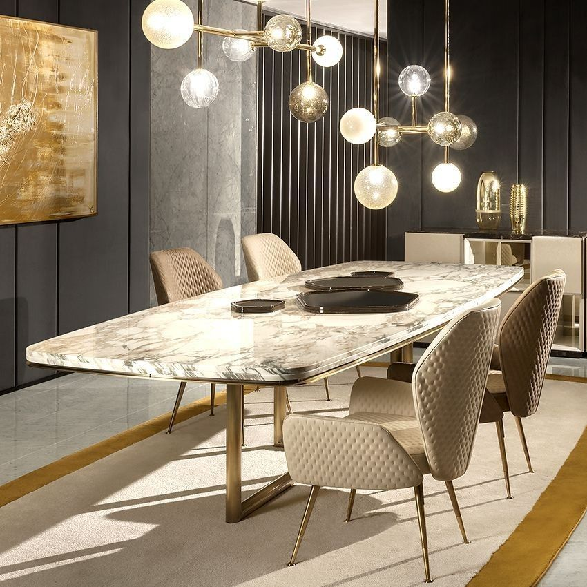 60 Modern Dining Room Design Ideas Marble Top Dining Table
