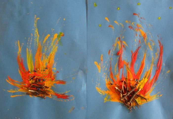 Pin von Sarah Schnekenburger auf Kunst Grundschule  Feuer