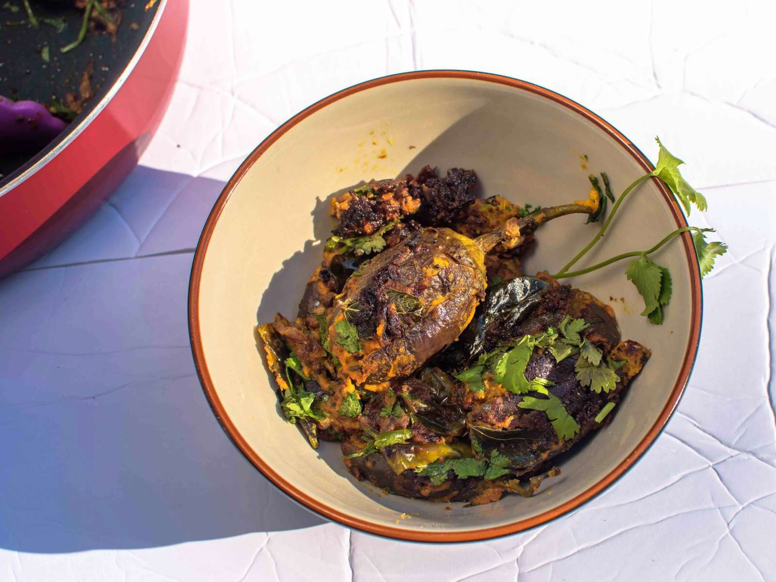 Bharli Vangi Recipe Maharashtrian Style Stuffed Brinjals Recipe Recipes Dried Vegetables Bharta Recipe