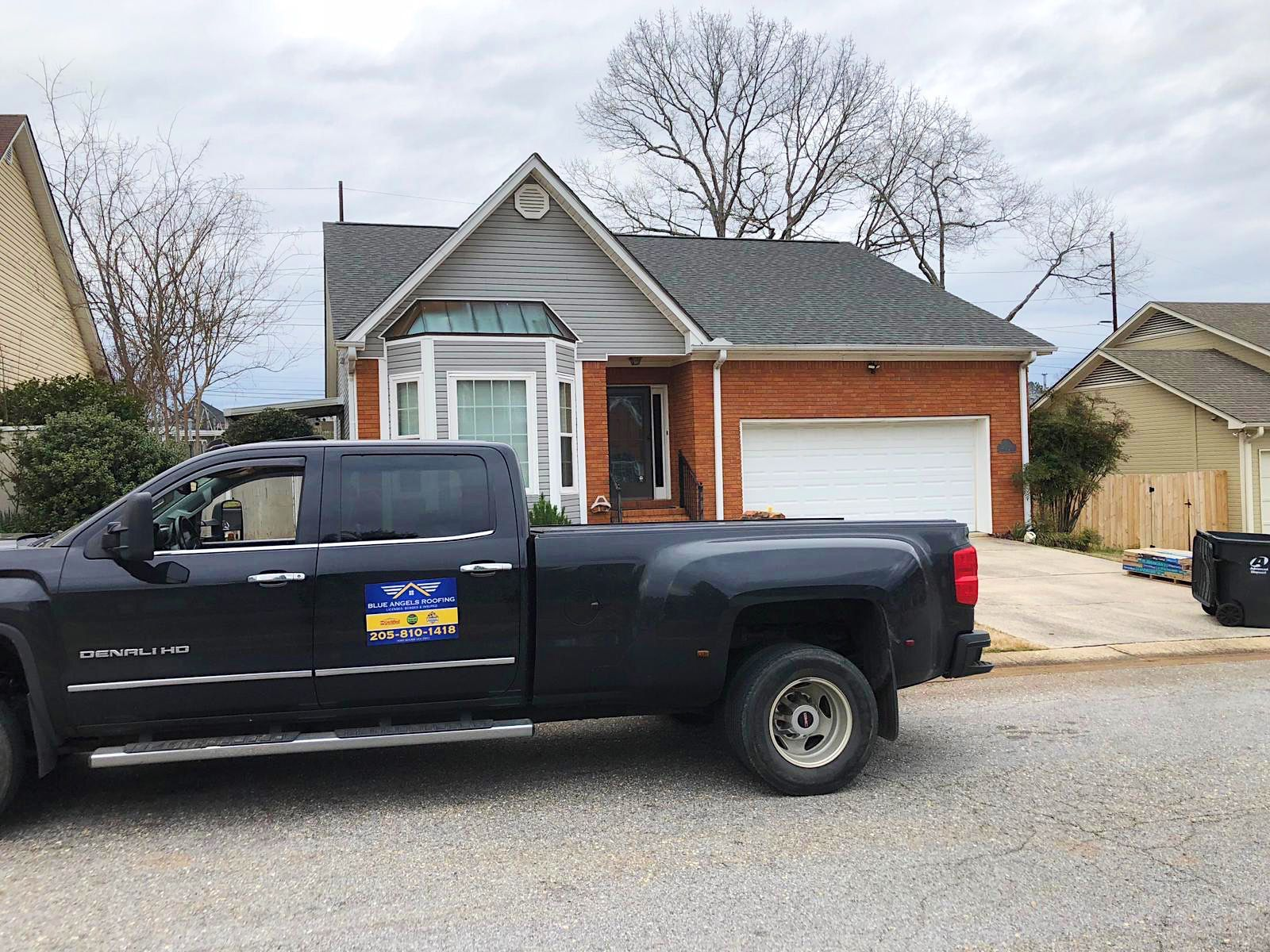 The Blue Angels Roofing Team Did A Great Job On This Pelham Roof We Take Pride In Offering The Best Service To Roofing Roofing Services State Farm Insurance