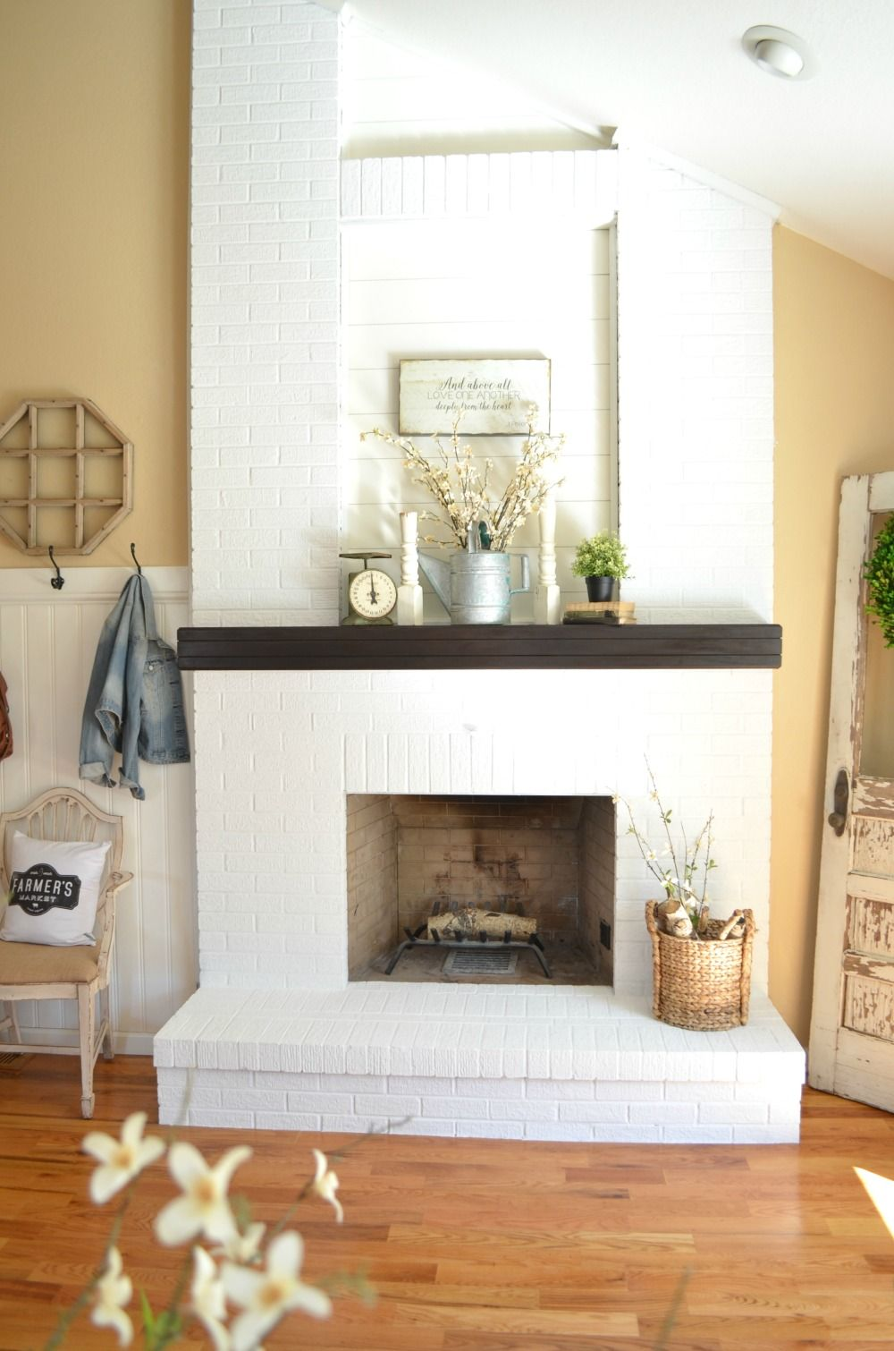 How to paint a brick fireplace brick fireplace makeover