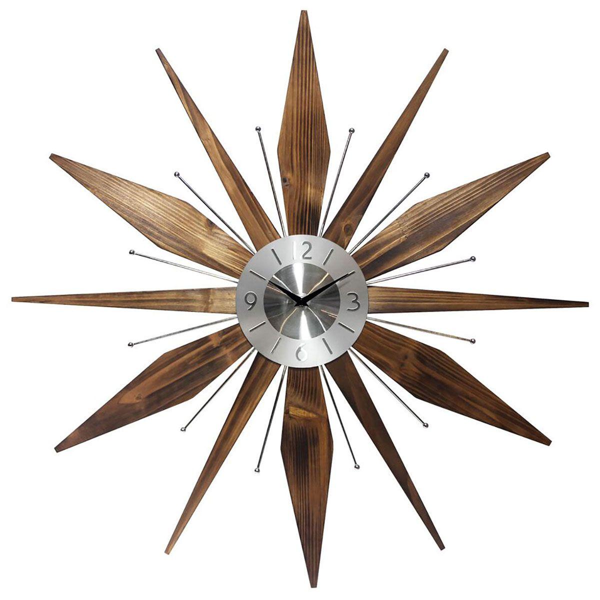 Utopia starburst wall clock midcentury modern