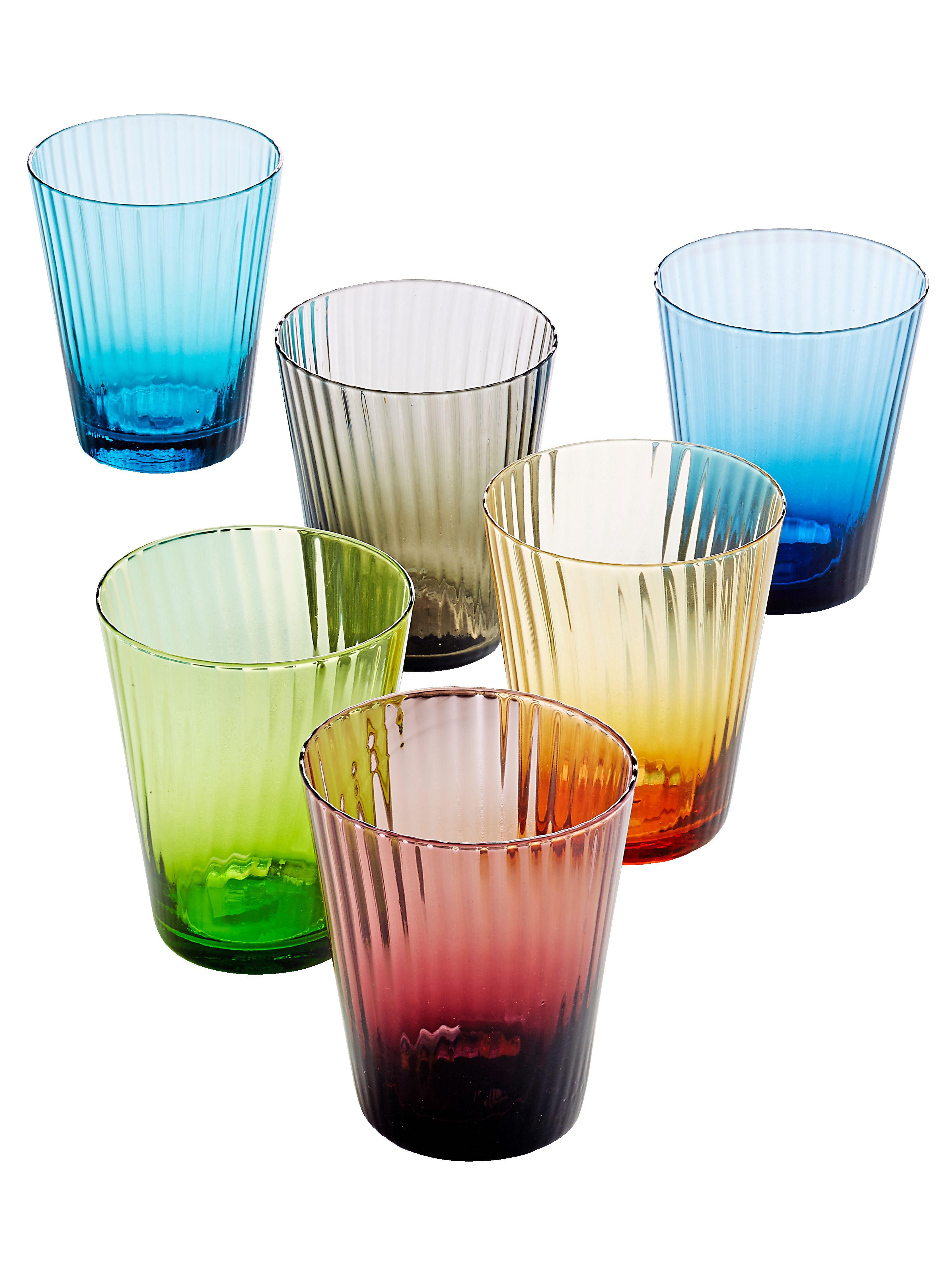Super Miavilla Wasserglas Set 6 Tlg Bunt 4995