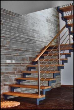Cbi Escada Metálica Home Stairs Staircase Railings Modern Stairs