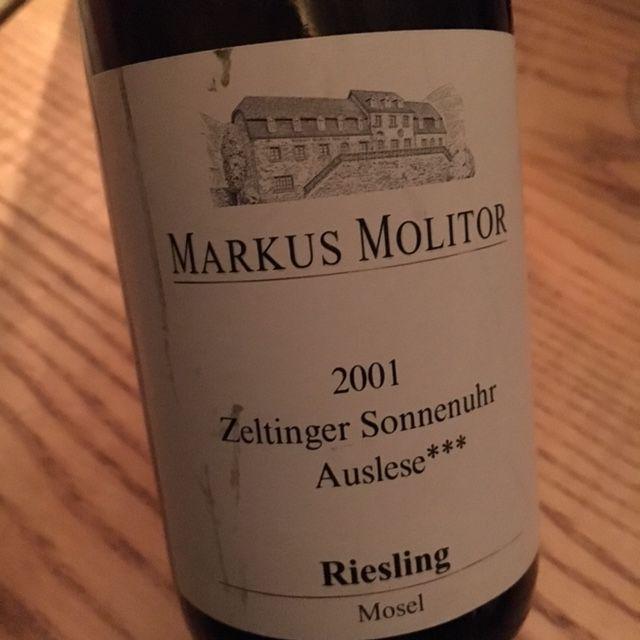 Weinkeller Len 2001 markus molitor zeltinger sonnenuhr auslese riesling mosel