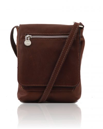 SASHA TL140940 Unisex soft leather shoulder bag - Borsello unisex ...