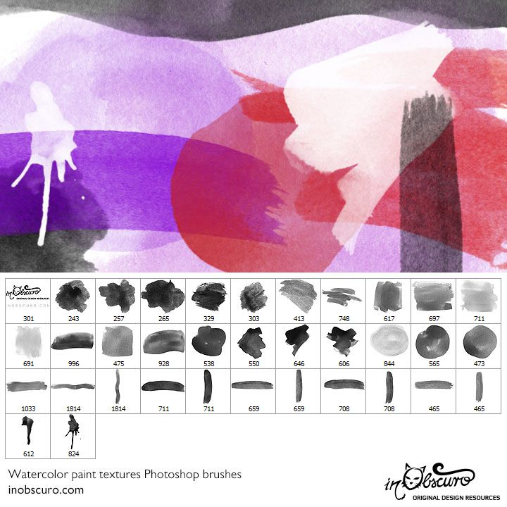 Free Adobe Photoshop Brush Set Featuring Watercolor Texture Paint