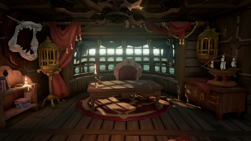 File Captain S Quarters Png Sea Of Thieves Wiki Sea Of Thieves Throne Room Sea Captain