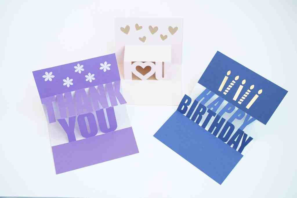 How To Make Easy Cricut Pop Up Card Templates For Free Domestic Heights Pop Up Card Templates Pop Up Cards Cricut Birthday Cards
