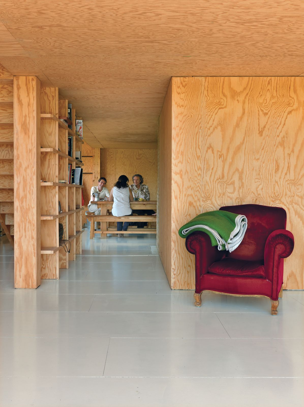 Photo of in modern wooden aframe retreat in france dividing