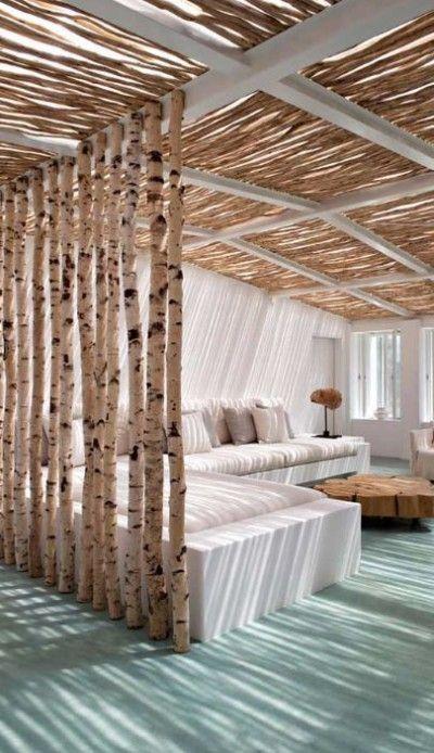 Idées pour séparer des espaces dans une pièce Claustra, Tronc