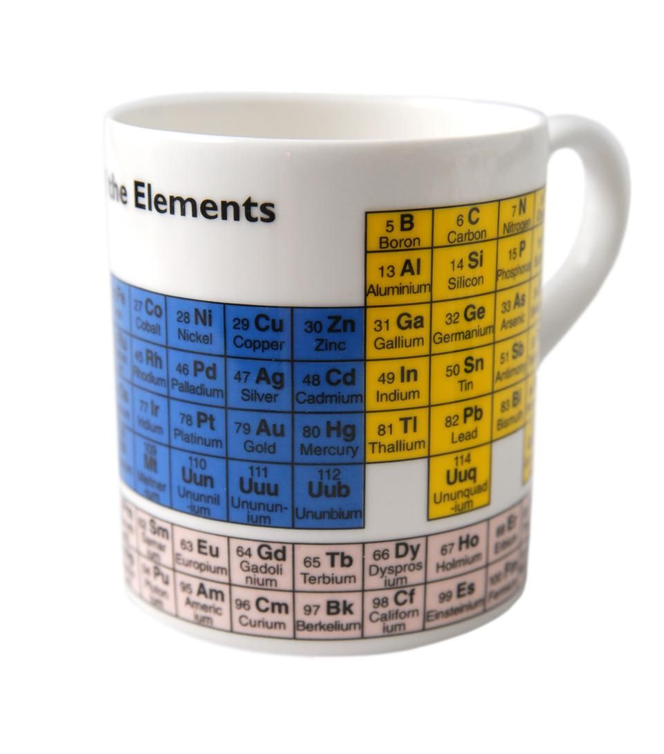 periodic table mug white bone china mug featuring the periodic table of elements the periodic - Periodic Table Of Elements Gifts