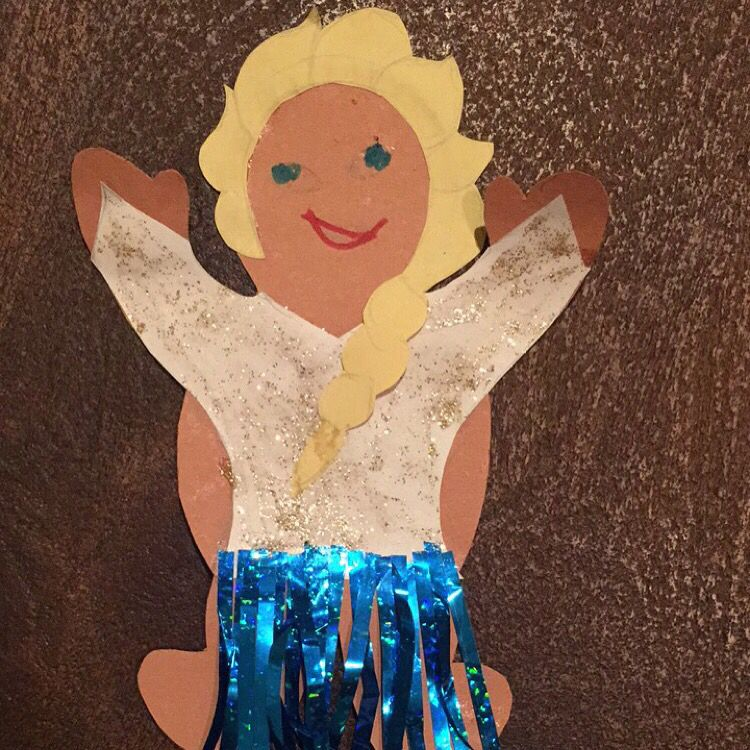 Gingerbread Man Disguised As Elsa Gingerbread Man Crafts For