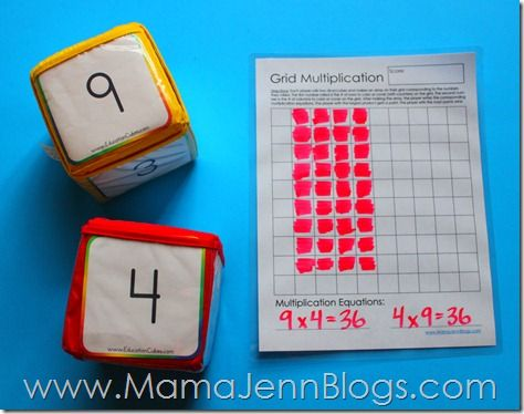 Grid Multiplication: Free Printable Math Game | Maths Multiplication ...