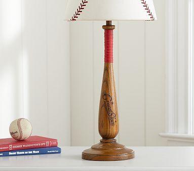 Lamp for Jack's next room....  Batter Up Base #PotteryBarnKids