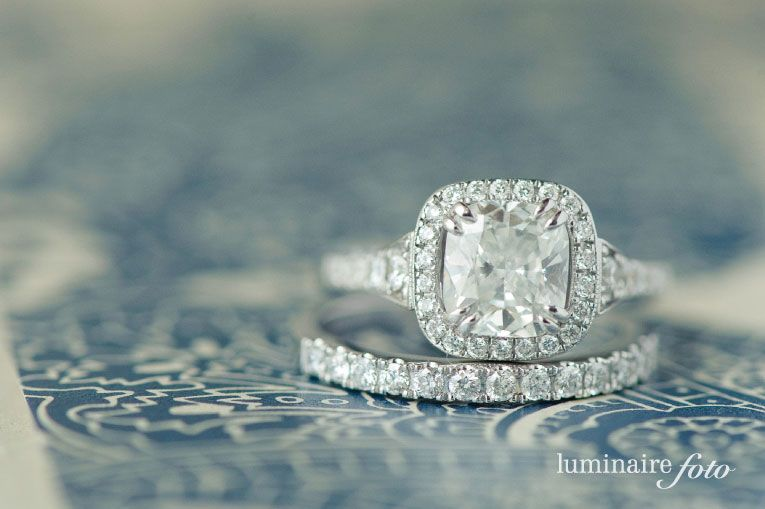a sparkly wedding ring