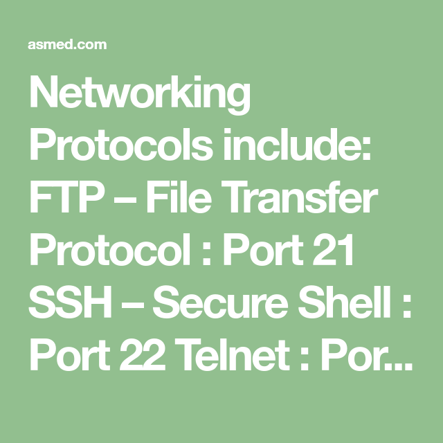 CompTIA A+ Networking, Secure shell, Computer knowledge