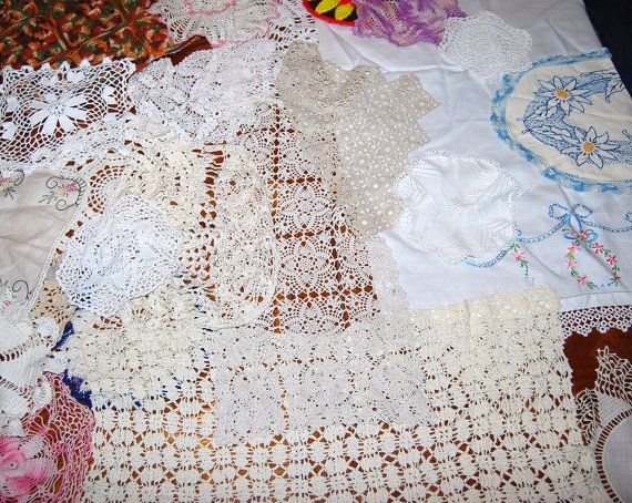 Vintage Doilies Crochet 24 Pieces Shabby by CheekyVintageCloset, $64.00