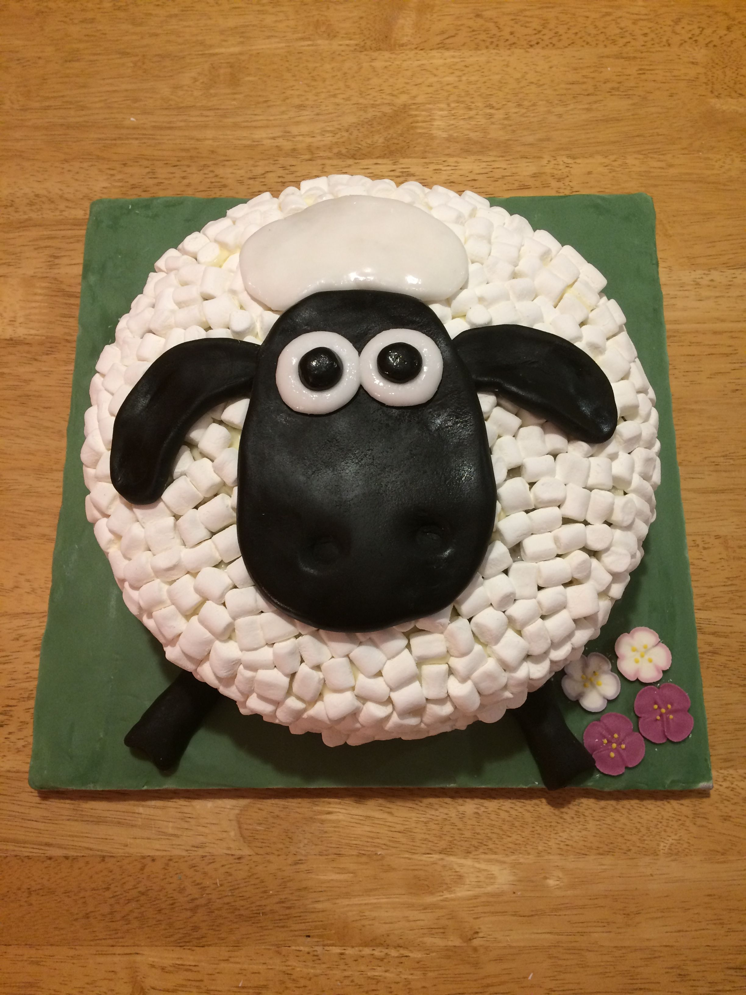 ba076a1f84bc Happy 4th Birthday Emelia! Here s your Shaun the Sheep piñata cake you  wanted!!!