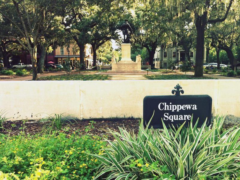 Chippewa Square In Savannah Georgia Forrest Gump Savannah Chat Forrest Gump Savannah Georgia Travel