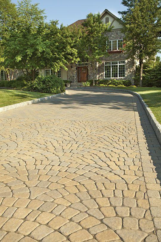 Roman Cobble Fishscales Paver Driveway Paver Walkway Driveway