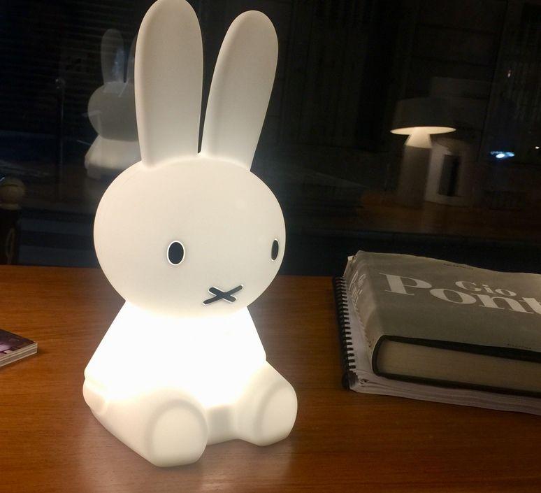 Lampe Veilleuse Lapin Miffy My First Light Blanc Led O15cm