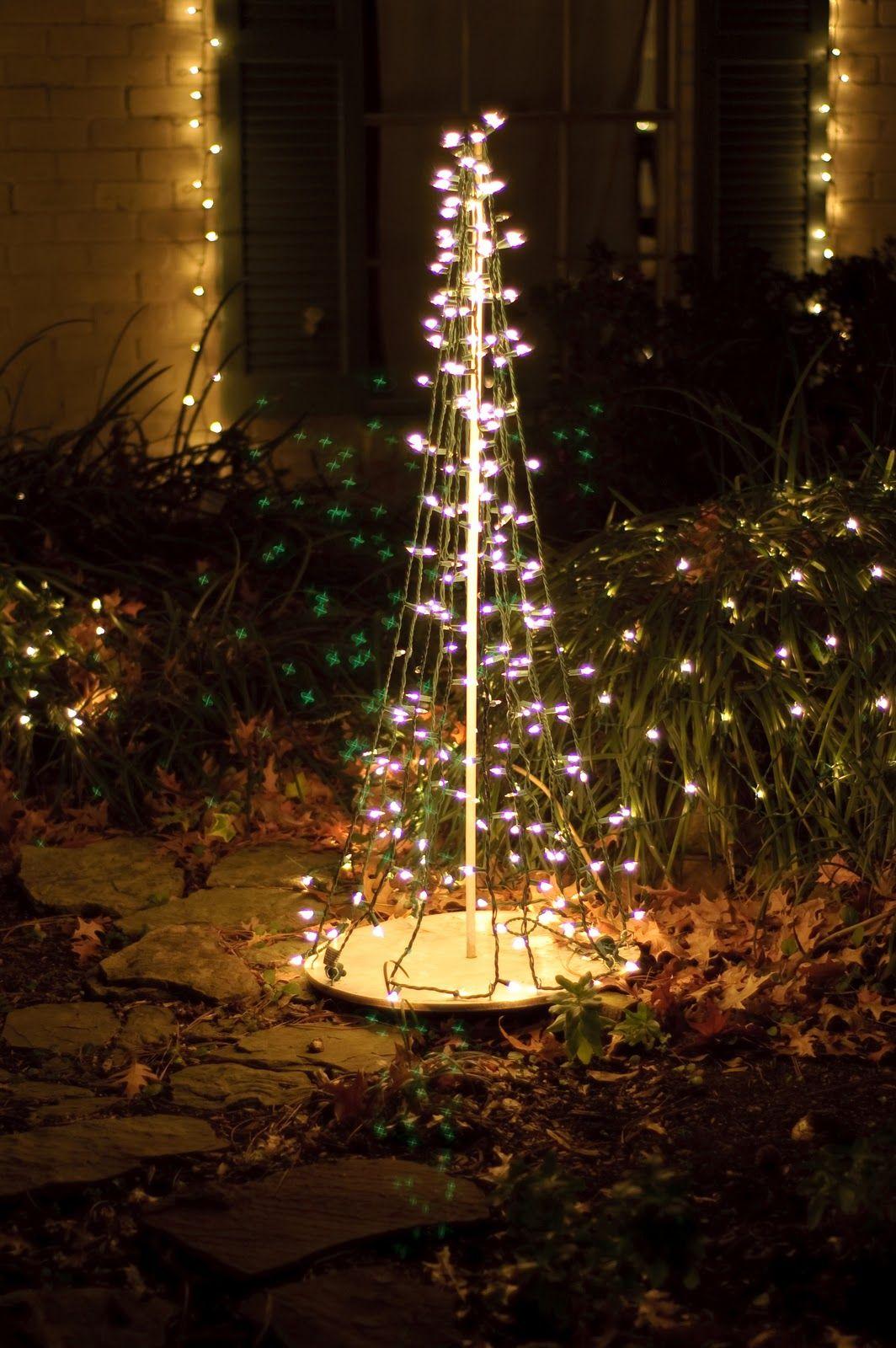 christmas tree diy dowel rods lilybug designs outdoor christmas tree