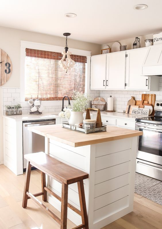 37 Small Kitchen Islands You'll Want To Get