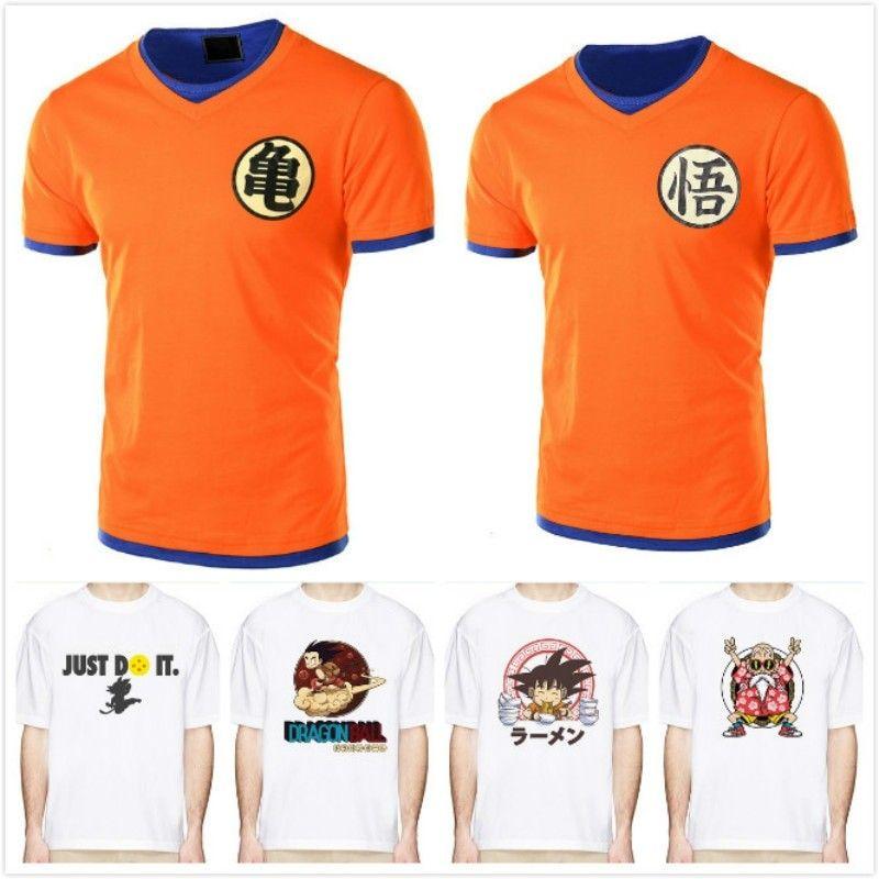 2018 Dragon Ball T Shirt Men Summer Top Dragon Ball Z super son goku  cosplay Funny T-Shirts anime vegeta DragonBall Tshirt top 3c6b24614375