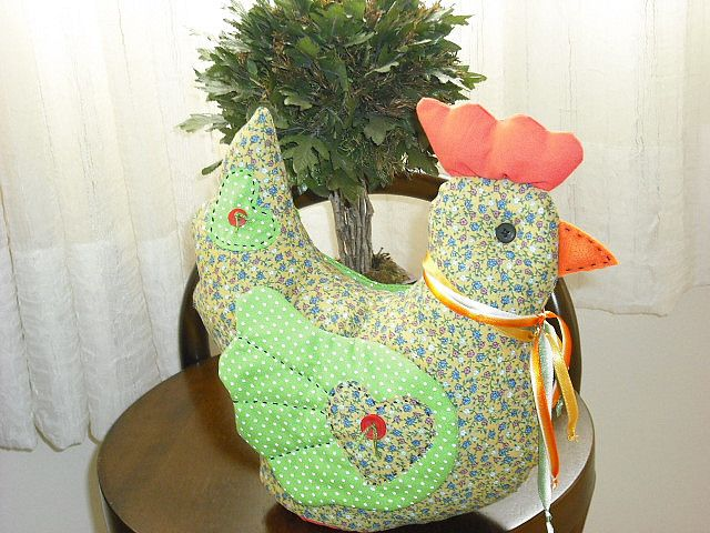 Chicken Pattern. I can turn this into a tea cozy! | gallinas ...