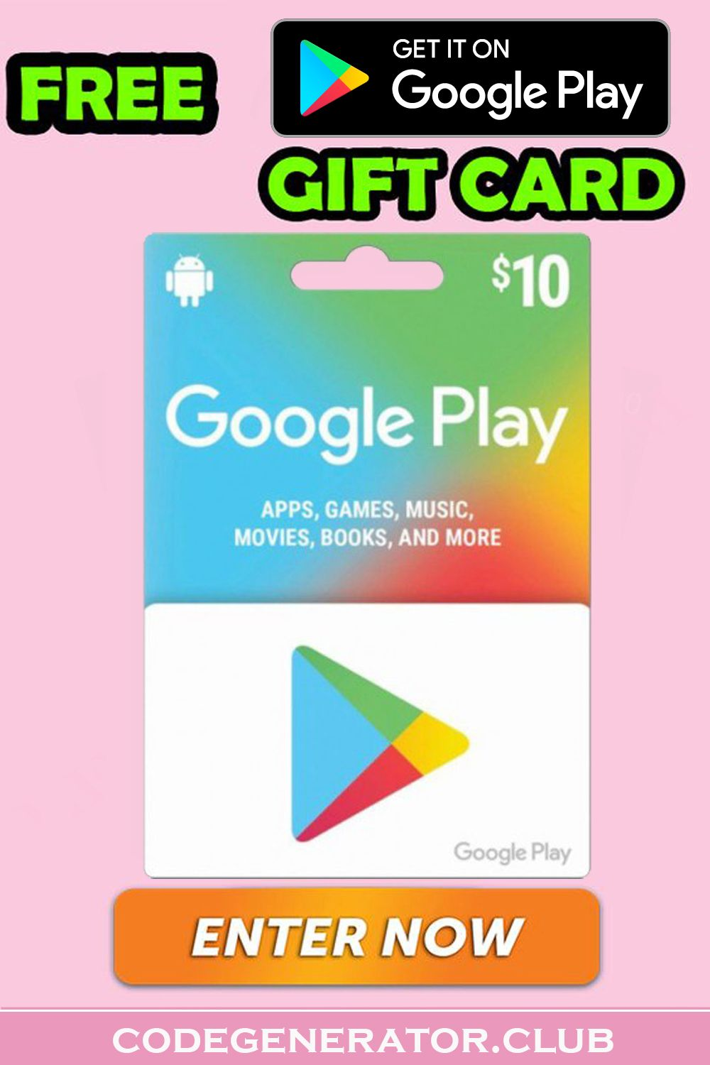 How To Get Free Google Play Gift Cards Google Play Gift Card Gift Card Free Gift Card Generator