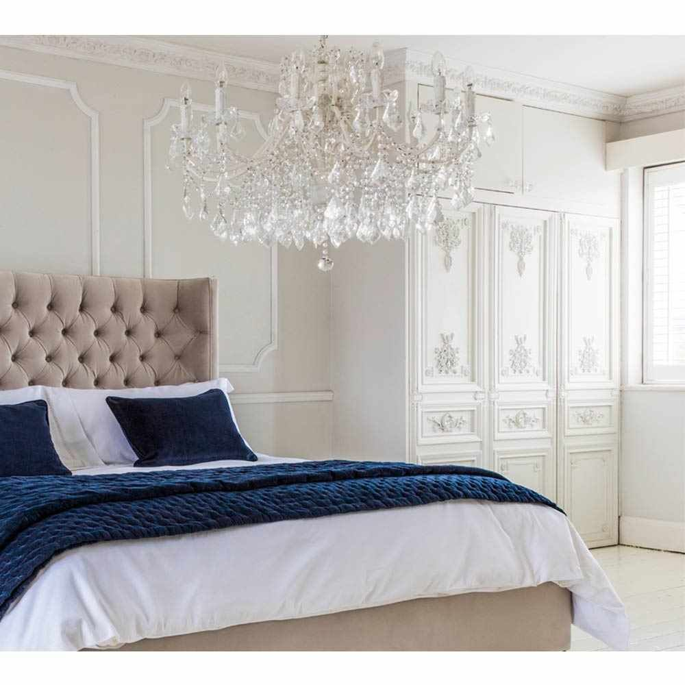 Chambery White Glass Chandelier | Crystal Chandelier ...