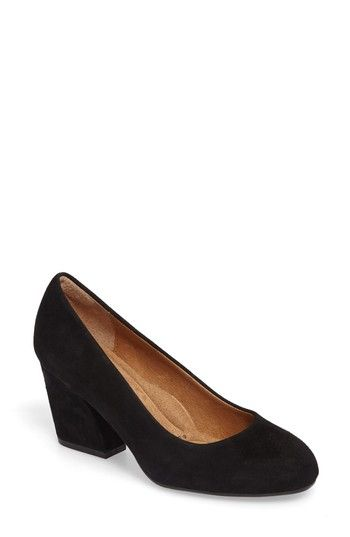 Tamira Suede Block Heel Pumps