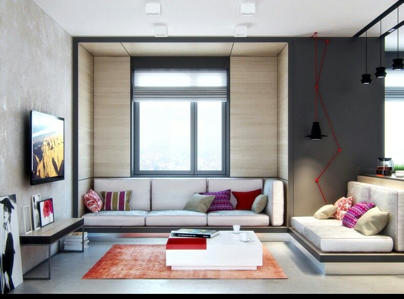 Built in sofa can free up space in a small room