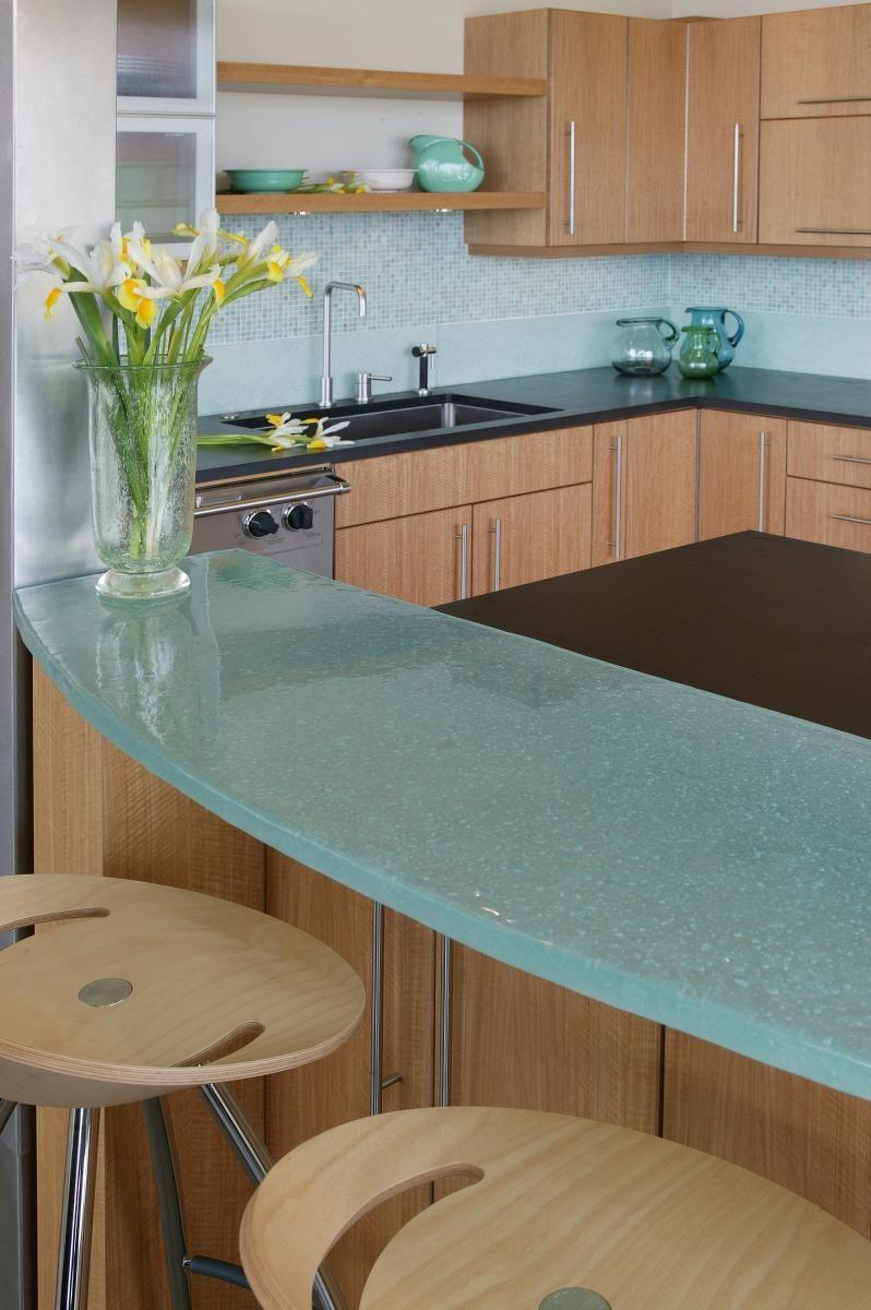 Glass Kitchen Countertops   Household ideas   Pinterest