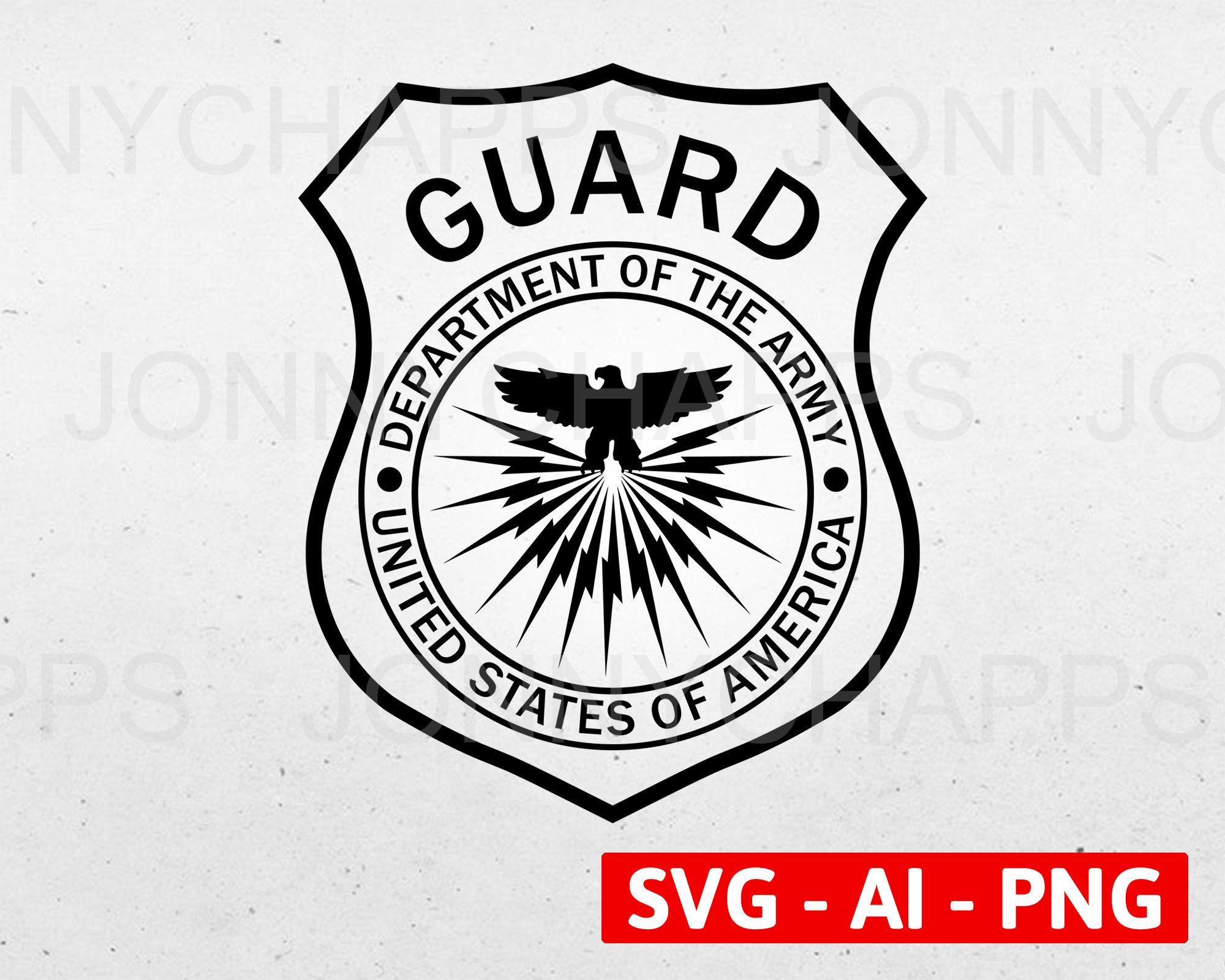 Department Of Army Guard Patch Military Army Security Badge Etsy In 2021 Badge Logo Logo Sign Security Badge