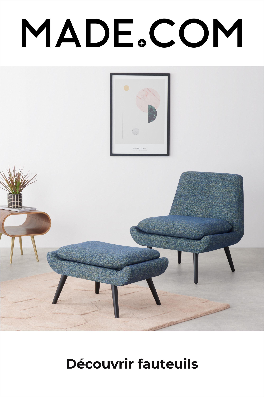 MADE Fauteuils Accent, Bleu Jonny, fauteuil, bleu