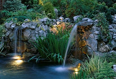 Beautiful ~ garden waterfall Formal and Contemporary water gardens