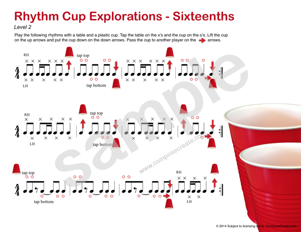 Rhythm Cup Explorations 1 - Cup tapping to teach rhythm. Sixteenth ...