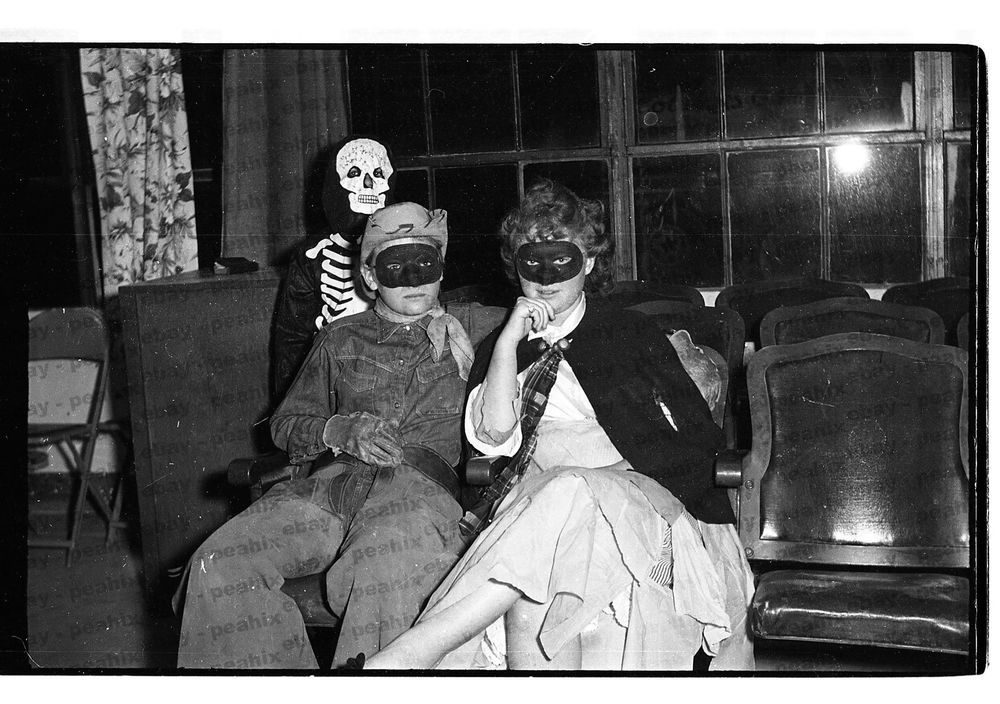 71 Vintage 1950s 35mm B W Photo Negative Creepy Halloween Costume Party Creepy Halloween Costumes Halloween Party Costumes Old Halloween Photos