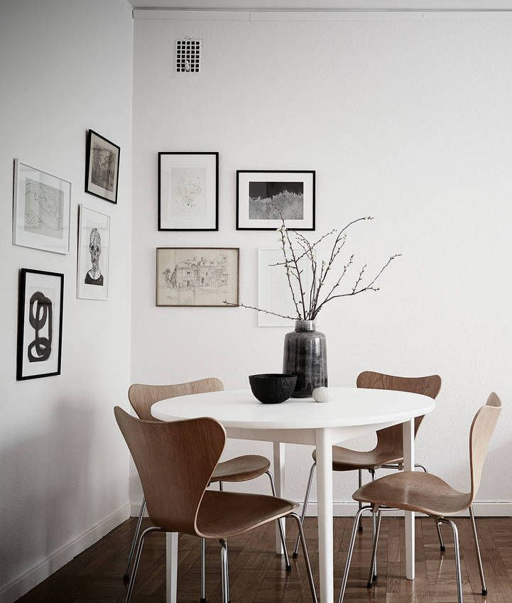 Corner Dining Room With Simple Gallery Wall. Are You Looking For Unique And  Beautiful Art Great Pictures