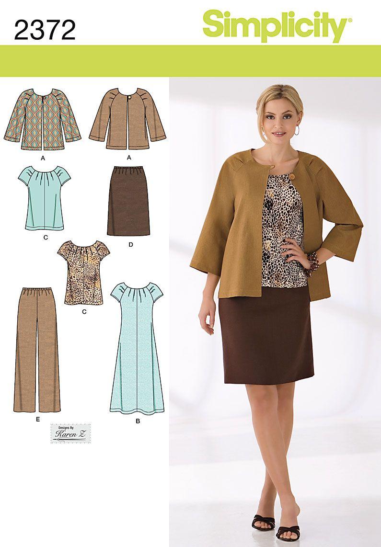 2372 Misses\' & Plus Size Sportswear Misses\' / women\'s jacket, dress ...