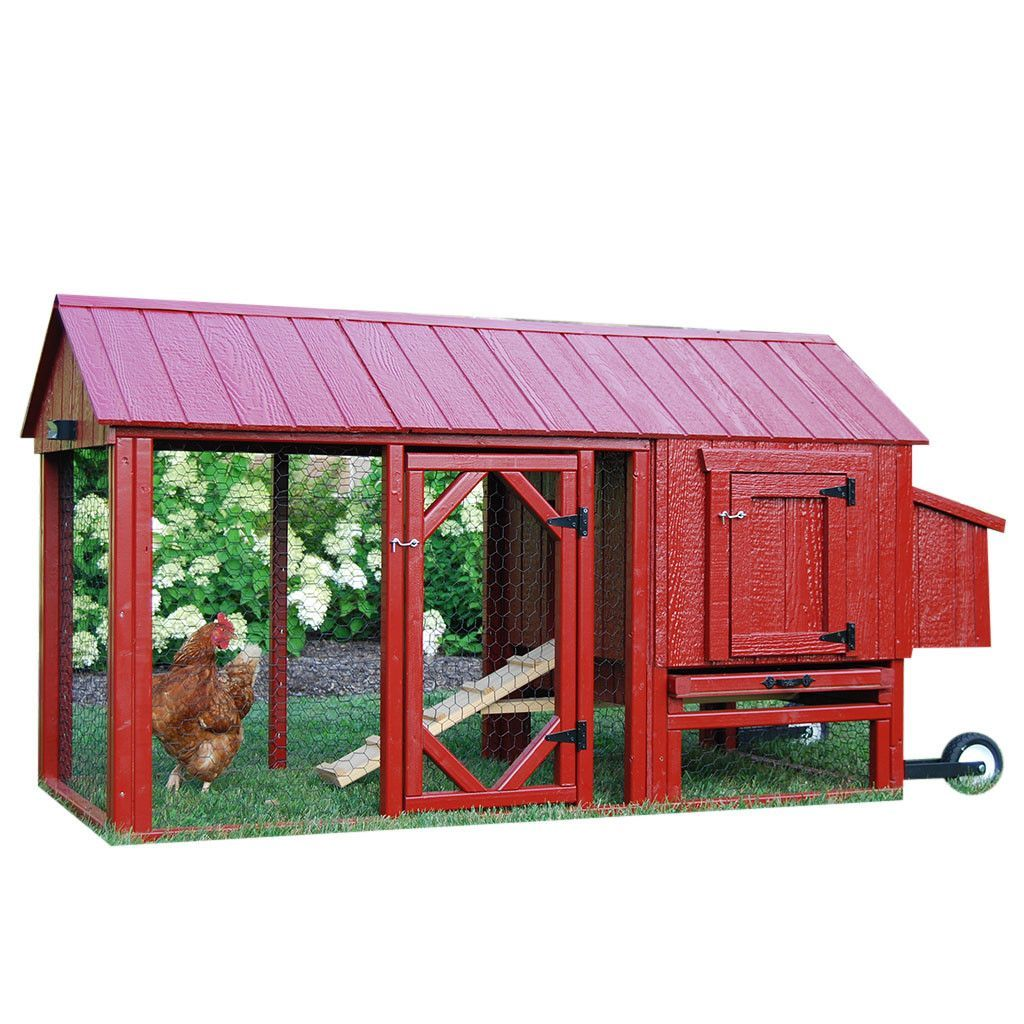 little cottage co atlanta chicken tractor with run 2 4 hens