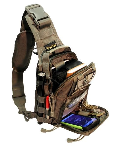 TravTac Stage II Sling Bag, Premium Small EDC Tactical Sling Pack ...
