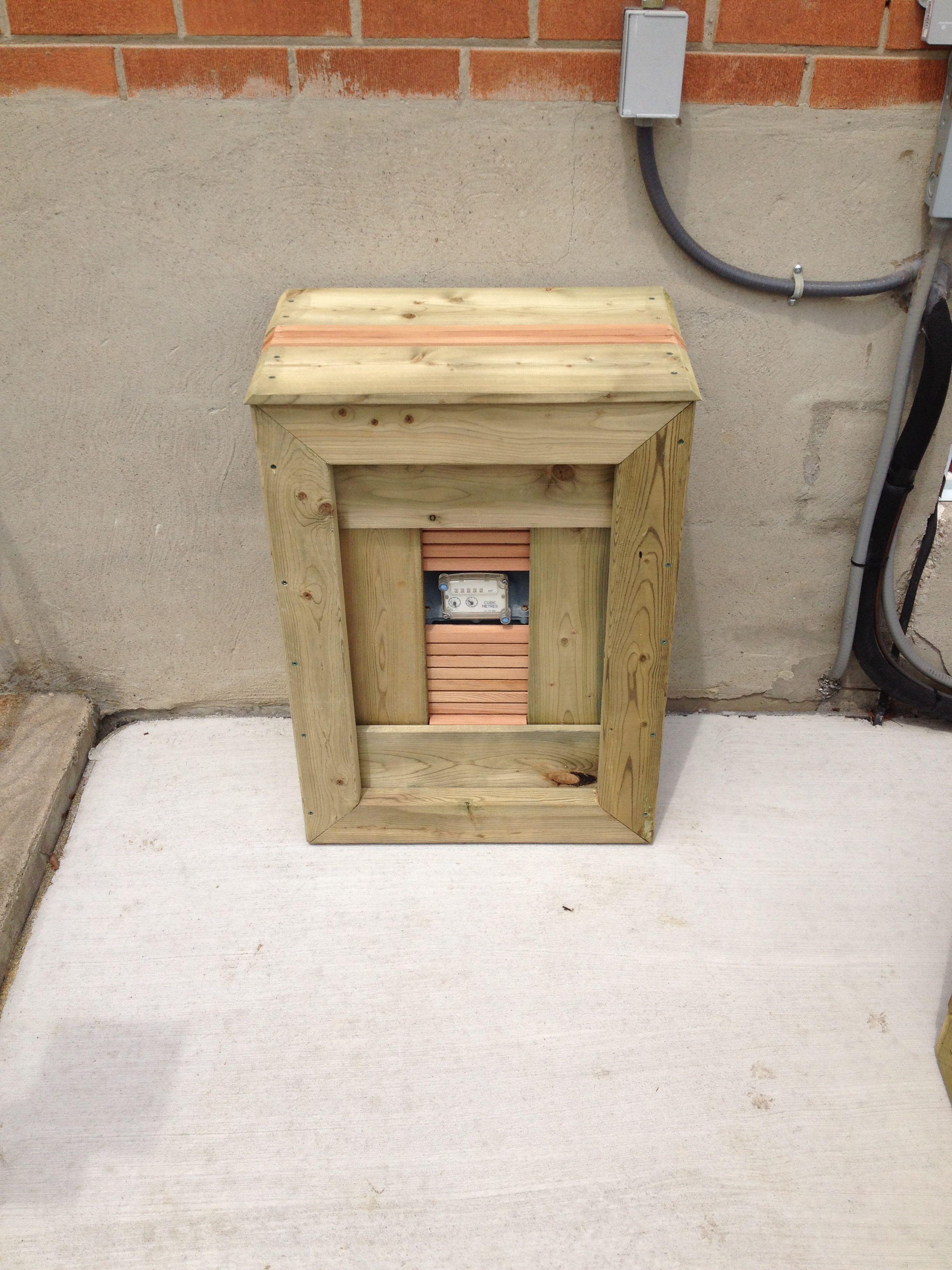 Gas Meter Cover Diy Backyard Fun House Design Yard