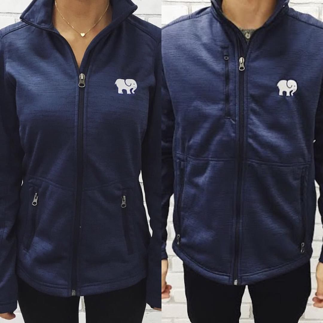 Our navy mystic ella full zip jackets for women and men coming at