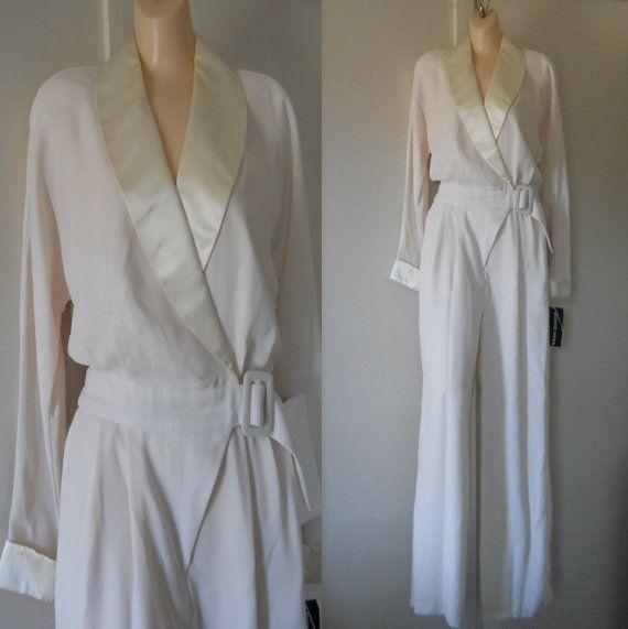 women wedding pants | White Jumpsuit White Pant Suit Off White ...