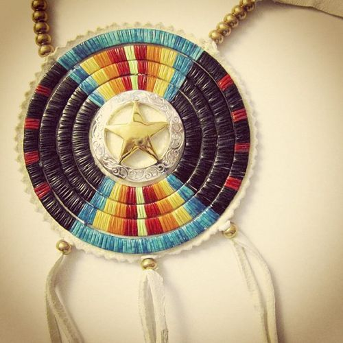Four row Quillwork Star Medallion by Lonna Jackson (Dakota/Chippewa) available at http://shop.beyondbuckskin.com #quillwork #medallion #star #ndn #native #nativepride #nativestyle #buckskin http://instagram.com/p/aHrMGrCY70/