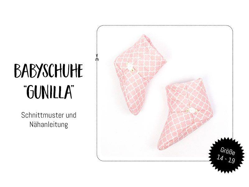 "Schnittmuster-Ebook: Babyschuhe ""Gunilla"" Gr 14-19 | Schnittmuster ..."