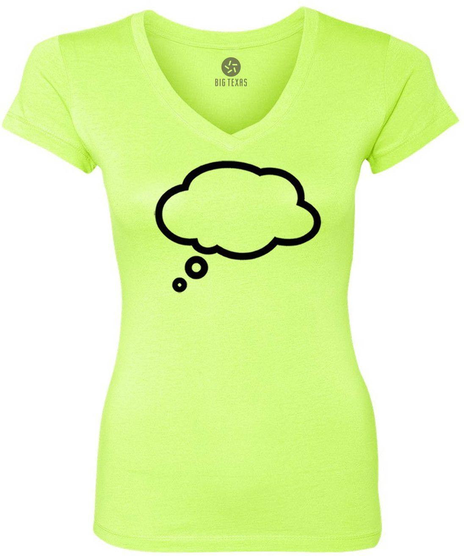 Thought Cloud (Black) Women's Short-Sleeve V-Neck T-Shirt